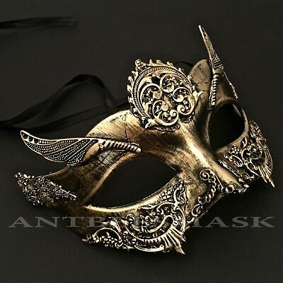 Halloween Women Venetian Metallic Steampunk Fantasy Masquerade Mask