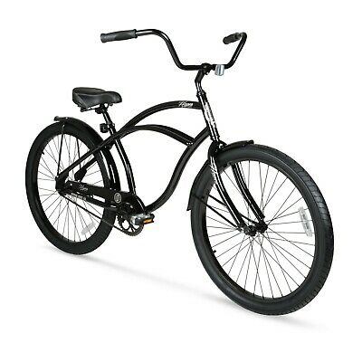 "Beach Cruiser Bike 26"" Men Elegant Black Sturdy Comfort Balloon Tire Bicycle New"