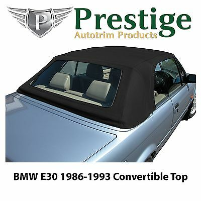 BMW E30 Convertible Top Soft Top Tops Roof Black Mohair Canvas 1986-1993