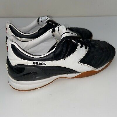 Diadora Brasil Indoor Soccer Shoe Leather Men's Size 10 Diadora Indoor Soccer
