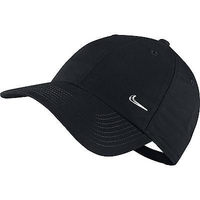 Nike Metal Swoosh Mens Sports Cap Baseball Hat Adjustable Running Golf Unisex