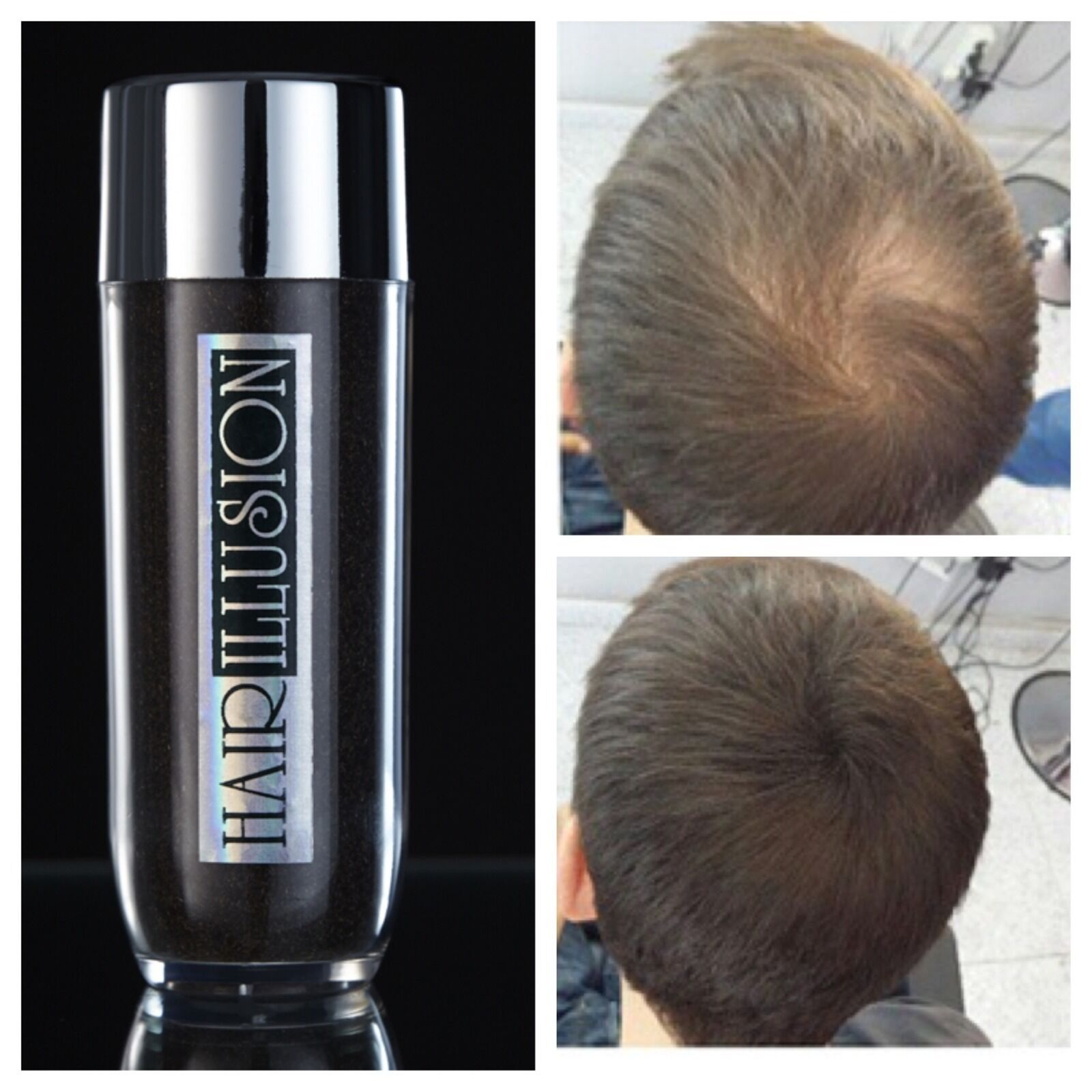 hair illusion 38.5g large hair building fibers concealer for bald
