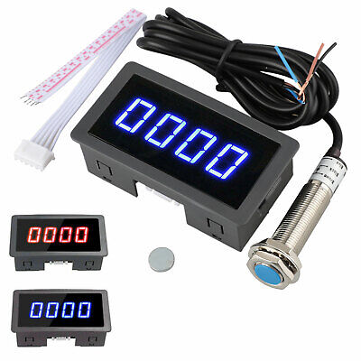 4 Digital Led Tachometer Rpm Speed Meter Hall Proximity Switch Sensor Npn