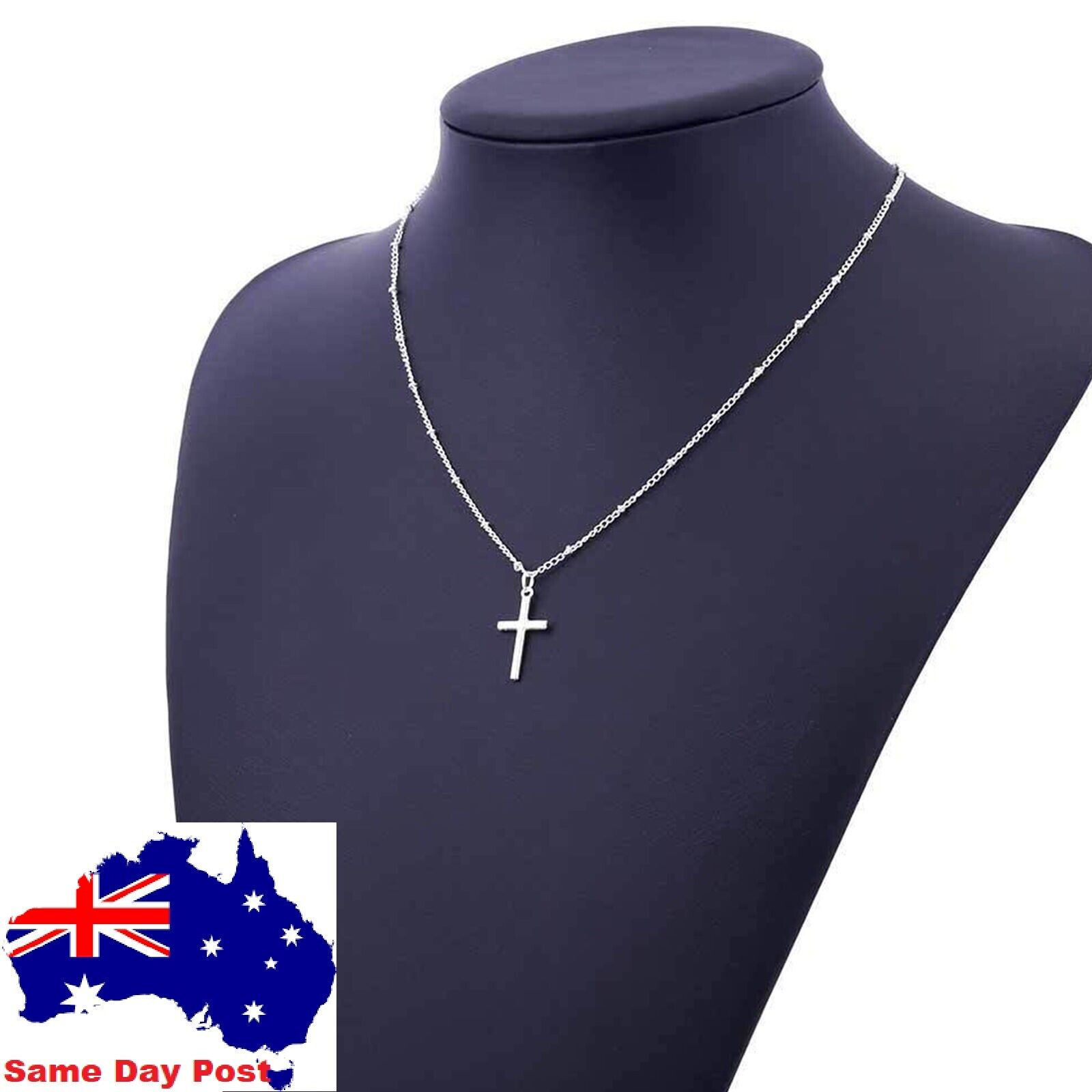 Jewellery - NEW  Cross Pendant Charm Gold or Silver Necklace Chain Women Fashion Jewellery