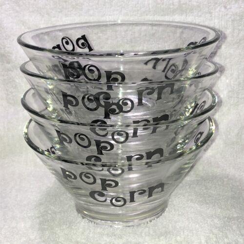 Set Of 4 Vintage 1970s Mid Century Modern Glass Pop Corn Bowls Wheaton - $9.99