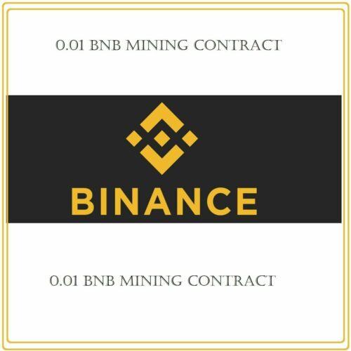 0.01 Binance Coin (BNB) CRYPTO MINING-CONTRACT ( 0.01 BNB)