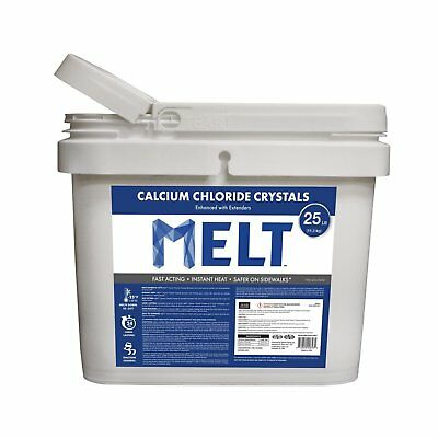 Snow Joe Melt Ice Removal Calcium Chloride Crystals Ice Melter 25 Pound Bucket