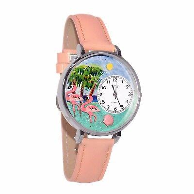 Whimsical Watches Unisex U0150001 Flamingo Pink Leather Watch