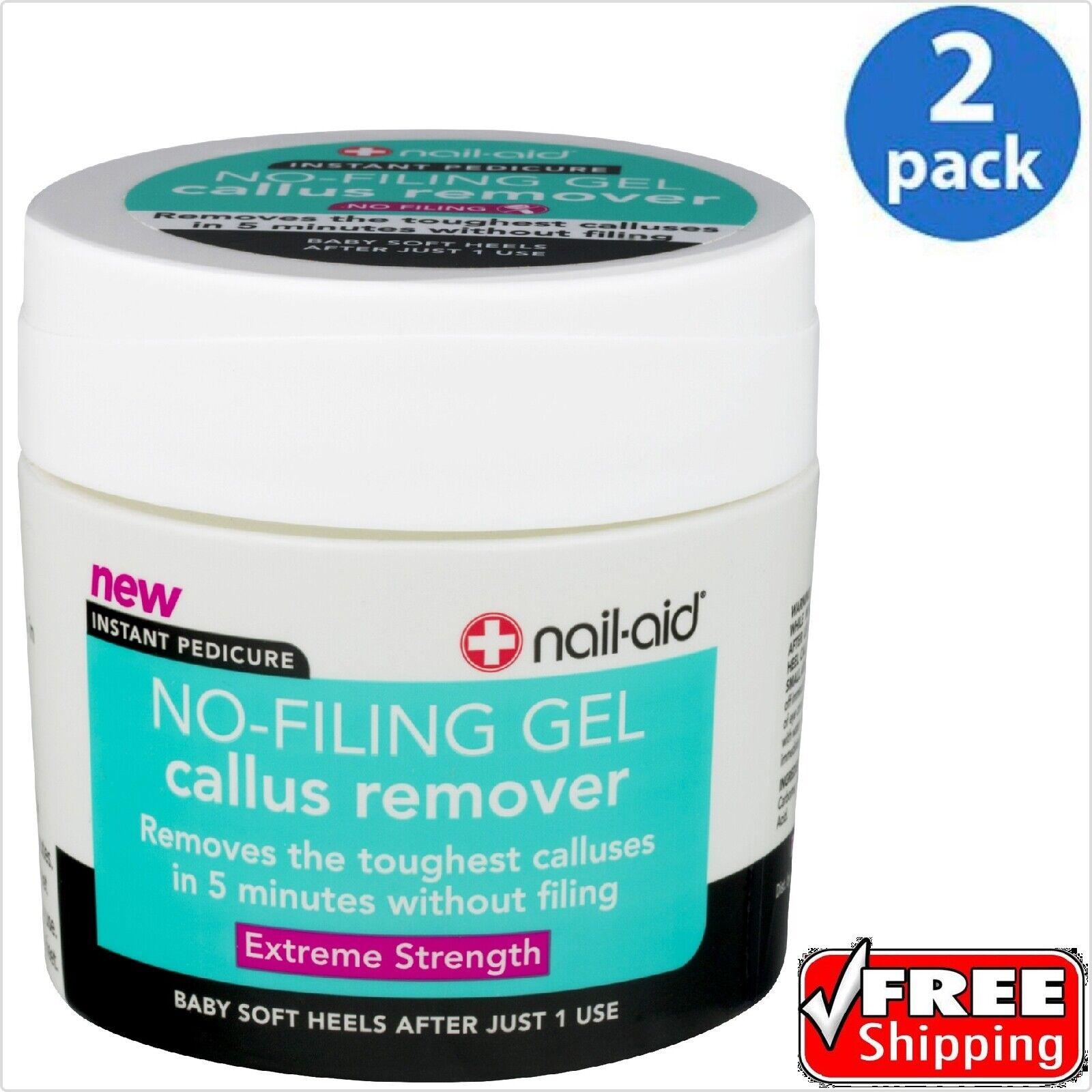 nail-aid ® No-Filing Gel Callus Remover 5.5 OZ - 2 PACK - F