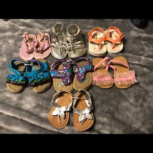 Lot of baby girl size 2 summer sandals!