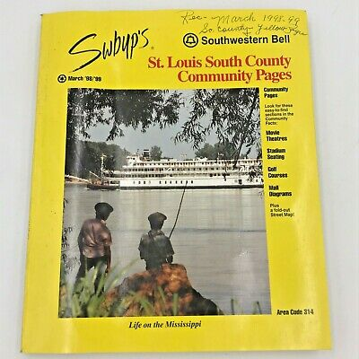 1998 1999 St Louis MO SOUTH COUNTY COMMUNITY Yellow Pages Southwestern Bell (St Louis Mo South County)