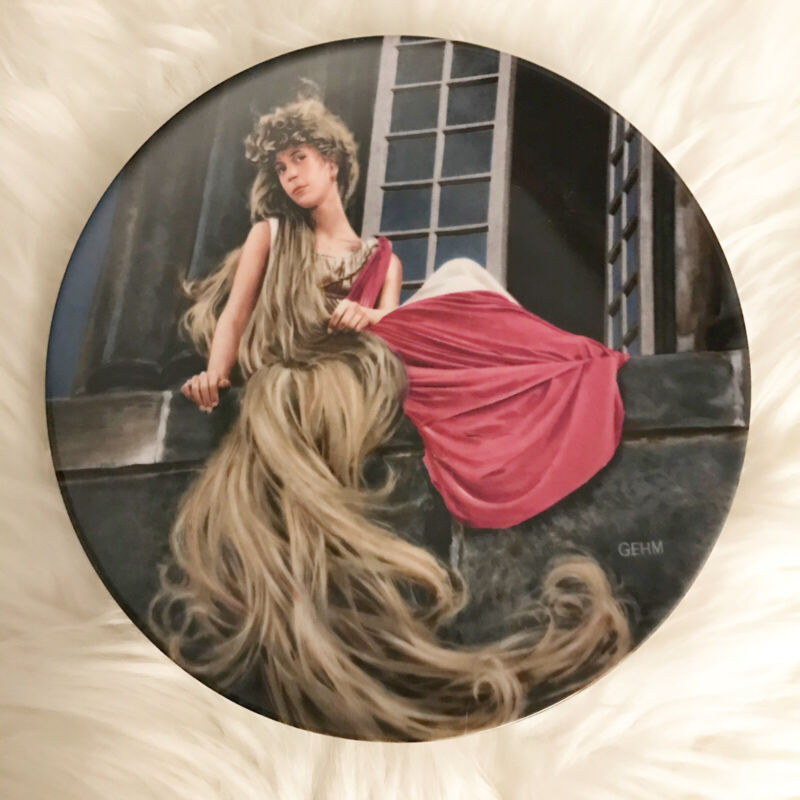 RAPUNZEL PLATE BY CHARLES GEHM FROM THE GRIMMS FAIRY TALES COLLECTION