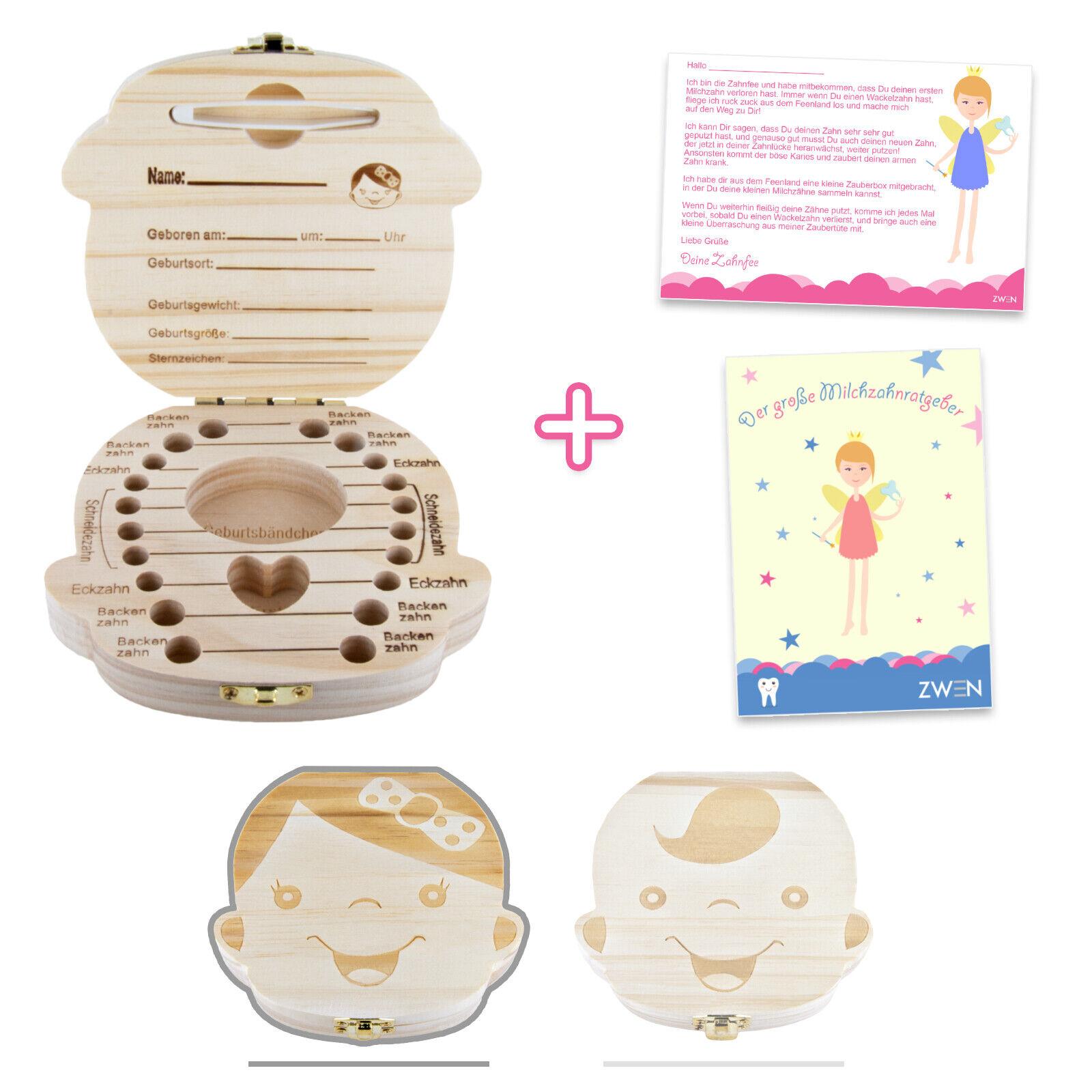 ZWEN Milchzahnbox Milchzahndose Zahndose für Kinder Jungen & Mädchen Milchzähne