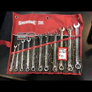 SIDCHROME 11PCE SPANNER SET IN ROLL UP CASE