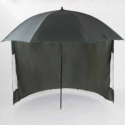 Angelspezi Schirmzelt 2,50m Schirm mit Umhang Sonnenschirm Angelschirm Camping