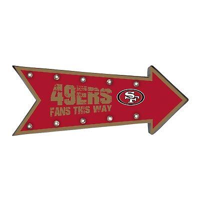 San Francisco 49ers Arrow Marquee Sign - Light Up - Room Bar Decor NEW 18