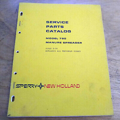 New Holland 790 Manure Spreader Parts Catalog List Book Manual Nh Oem