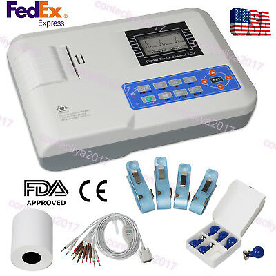 Digital Ecg Machine Portable 12-lead One-channel Ekg Electrocardiograph Printer