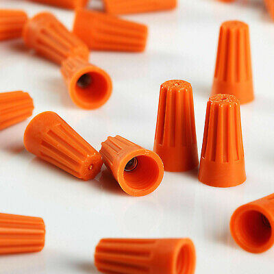 50 Pcs Orange Twist-on Wire Connector Connection Nuts 22-14 Gauge Barrel Screw