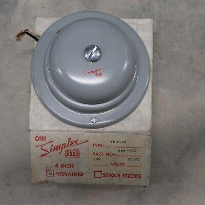 Simplex Str 4017-45 4 Grey Vibrating Bell Part 624-420 240v 50cyc Nos W Mount
