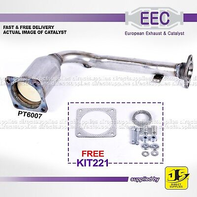 EEC CATALYST PT6007 CITROEN SAXO PEUGEOT 106 1.1 8V TU1JP HFX(TU1JP) FREE KIT