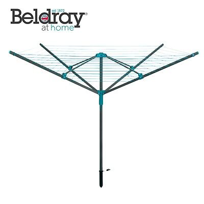 Beldray® LA059437 Rotary Outdoor Clothes Airer with Pegs, Ground Socket & Cover