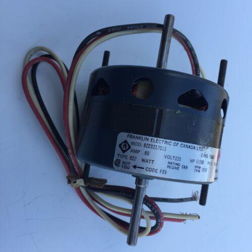 Franklin 76408 Fan Motor 1/100 HP 115 Volt .8 Amp 8223217011 1550 RPM NEW 1/4