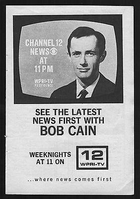 1969 Wpri Tv Ad   Providence Rhode Island News W Bob Cain   Channel 12