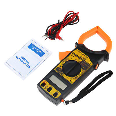 Safe Measurement Digital Clamp Tester Amp Ohm Reader Checker Tester Test Lead
