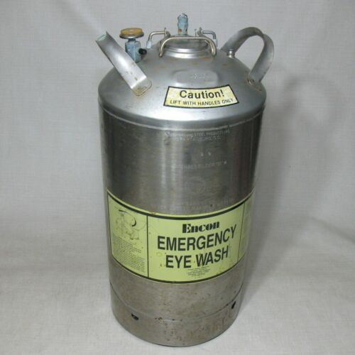 ENCON EYE WASH SPARTANBURG CHALLENGER VI 10 GALLON STAINLESS STEEL TANK 130PSI