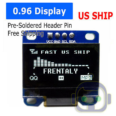 Us 0.96 I2c Iic Serial 128x64 Led Oled Lcd Display Module For Arduino White