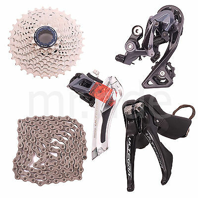2018 Shimano Ultegra R8000 Group set 5pc,Shifter,Derailleur,Cassette 11-32T,Mid