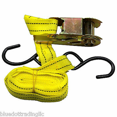 1pc 1x13 Ratcheting Tie Down Cargo Straps Truck Bed Motorcycle Hauling Moving