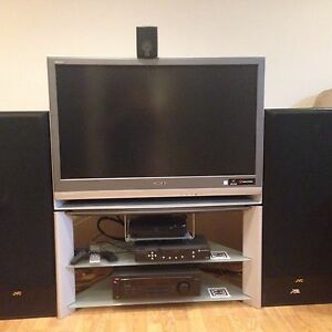 Tv with surround sound system