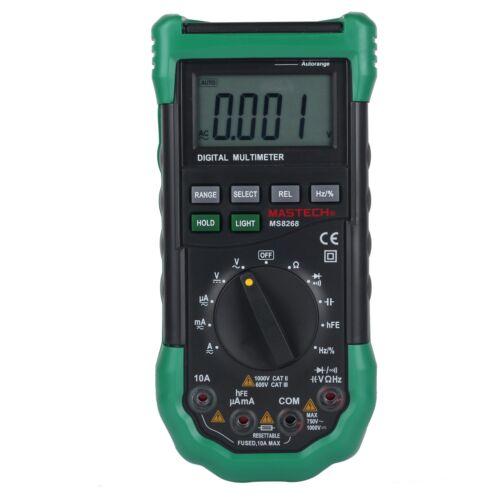 MASTECH MS8268 Digital Multimeter Sound Light Alarm Frequenc
