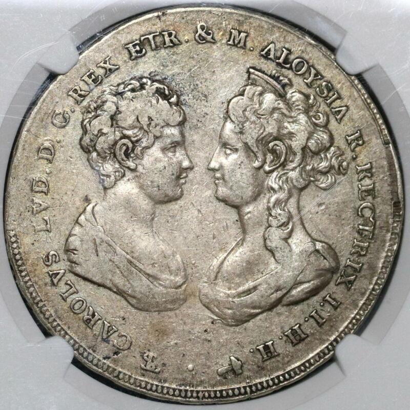 1807 NGC VF 30 Tuscany 10 Paoli Italy State Francescone Silver Coin (20031601C)
