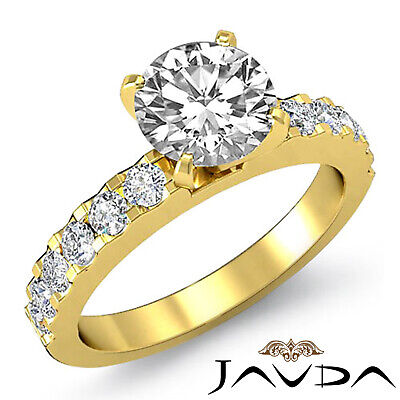 Shared Prong Round Natural Diamond Engagement Ring GIA Certified H SI1 1.47 Ct 6