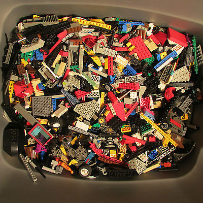 Lego by the pound Lot bricks pieces & part bricks tile BONUS mini-fig 100%