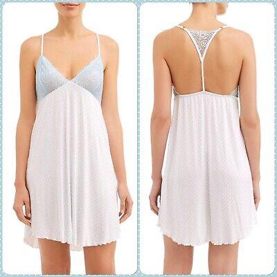 NWT Honeydew Intimates Women's Something Sweet White Dot Lace Sleep Chemise SM