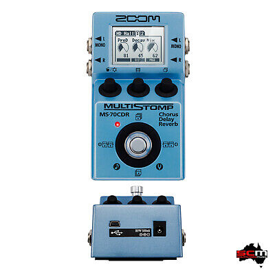 ZOOM MS70-CDR Chorus Delay Reverb High End Guitar Bass Synth Multi-FX Pedal