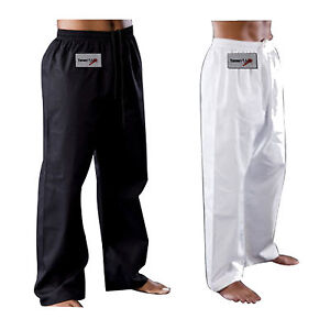 TurnerMAX-Karate-Taekwondo-Pants-White-Black-Martial-Art-Training-Trousers