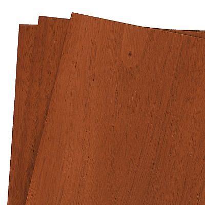 Mahogany Wood Veneer Rawunbacked 12 X 12 1 X 1 Pack Of 3 Sheets