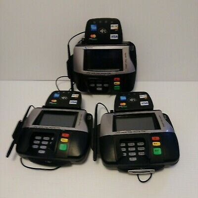 Lot Of 3 Verifone Mx860 Point Of Sale Credit Card Terminal M094-409-01-rc W Pen