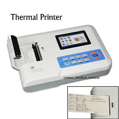 Ecg300g 3 Channel 12 Lead Ecg Ekg Machine Usb Pc Software Electrocardiograph
