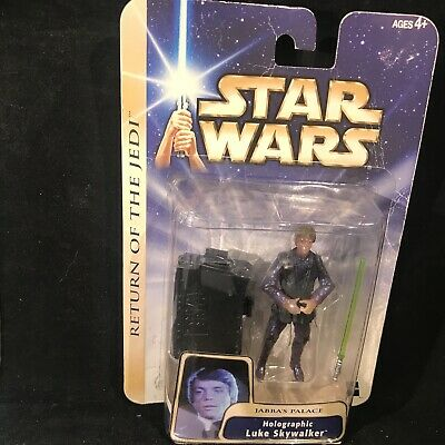 Luke Skywalker Jabbas Palace - Jabba's Palace Holographic Luke Skywalker Star Wars 2004 #11 On Card 3.75