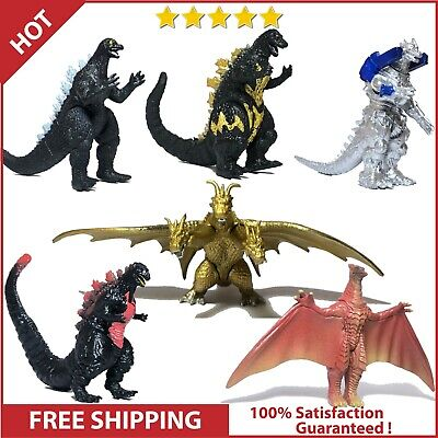 Set Of 6 Godzilla Toys Movable Joint Birthday Kids Gift 2019 Action Figures