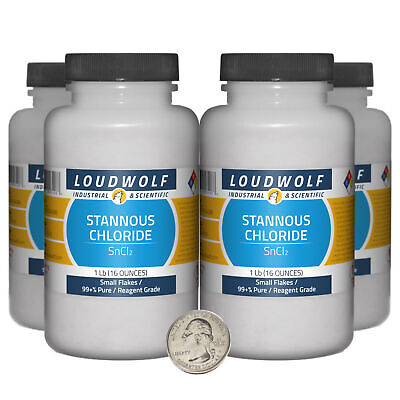 Stannous Chloride 4 Lbs 4 Bottles 99 Pure Reagent Grade Small Flakes
