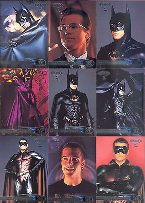 BATMAN FOREVER MOVIE 1995 FLEER ULTRA COMPLETE BASE CARD SET OF 120 DC