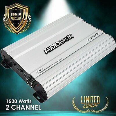 Audiobank 2 Channels 1500 WATTS Bridgedable Car Audio Stereo Amplifier P1502