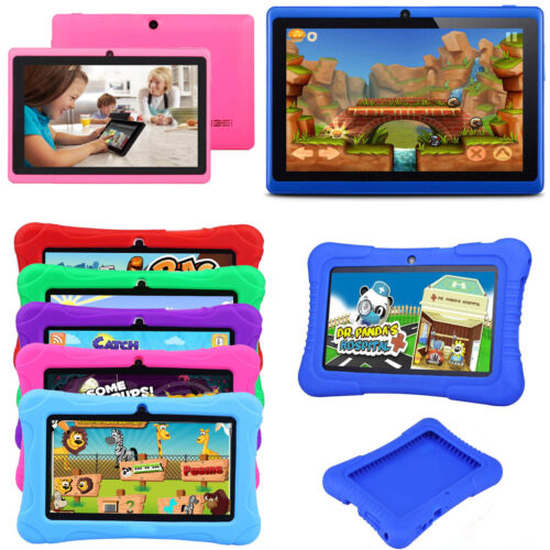 "Tablet - 7"" Kids Tablet PC Google Android Quad Core 16GB WIFI HD Dual Camera Bundle Case"